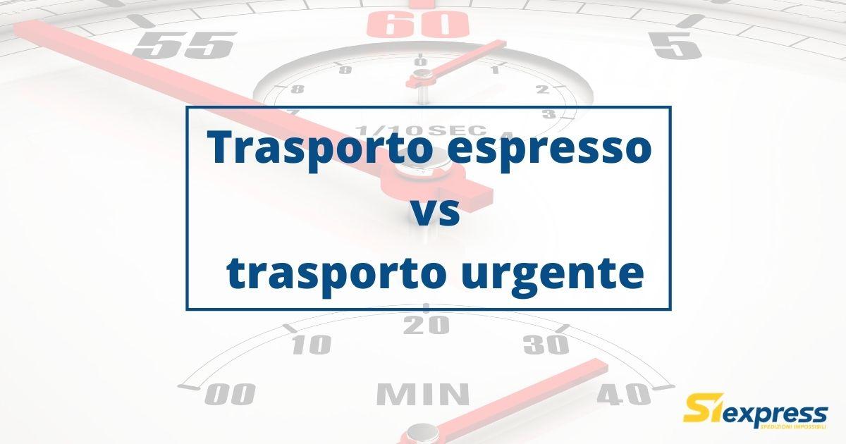 Trasporti espressi: sicuro che siano sinonimo di trasporti urgenti?